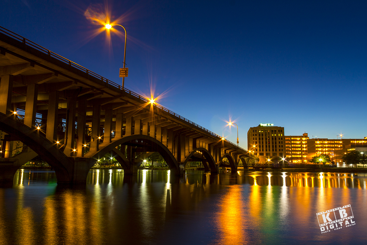Award-winning photo of downtown Rockford, IL, by Miralem Botic of KB Digital.
