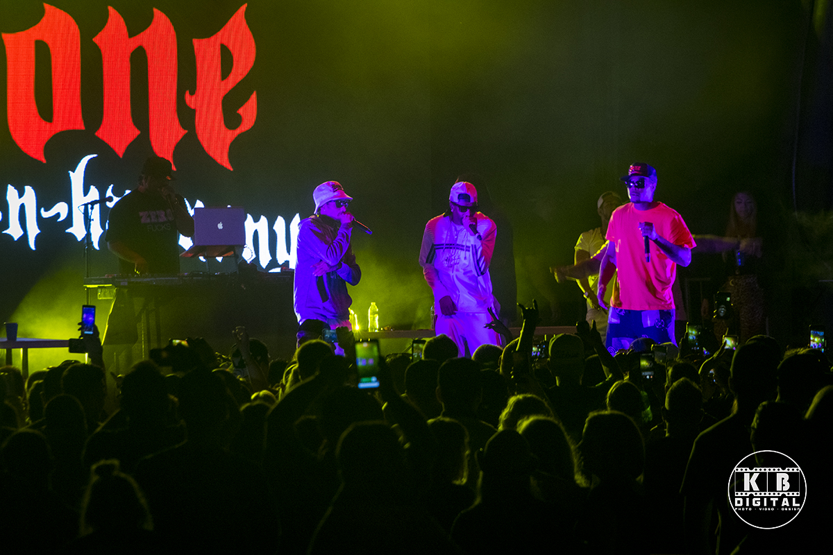 Bone Thugs-n-Harmony perform in Rockford, Illinois.