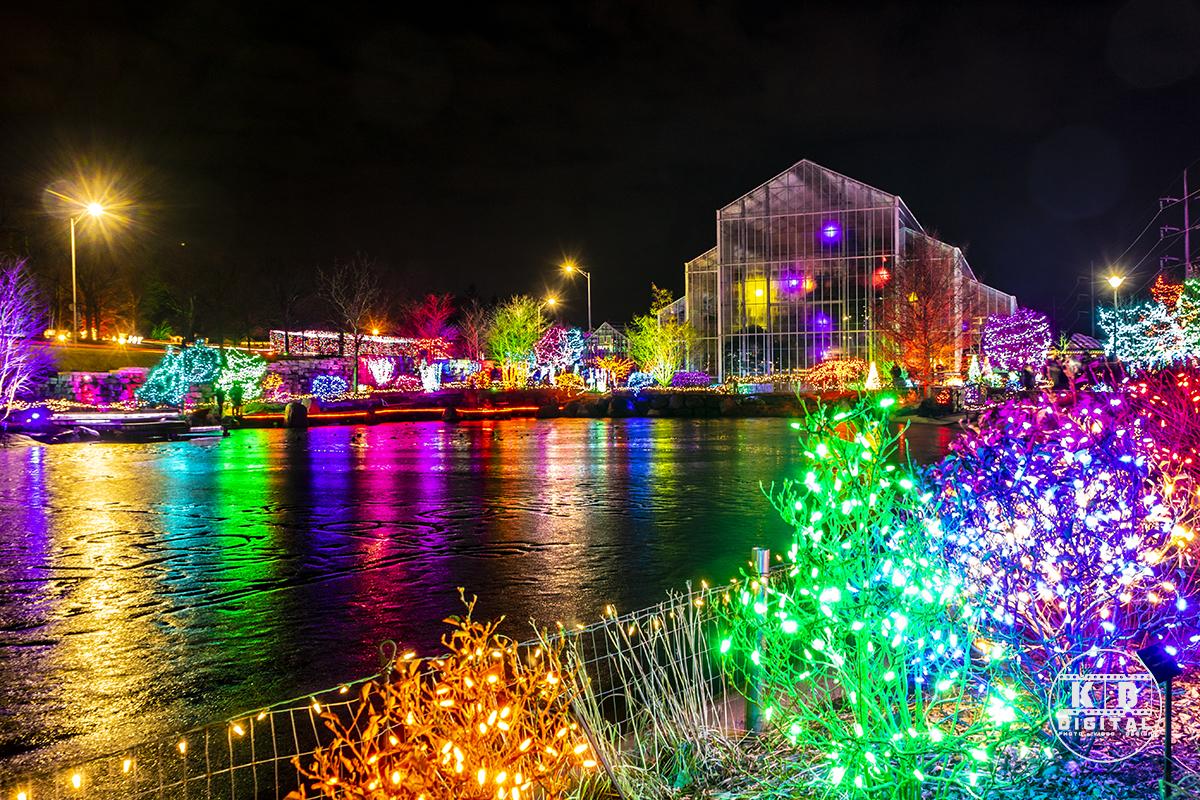 Holiday lights in Rockford, Illinois by KB Digital