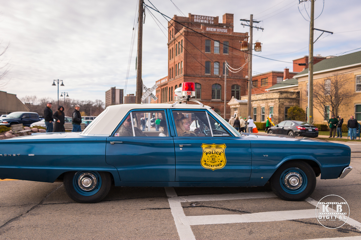 St Patrick's Day Parade in Rockford, Illinois
